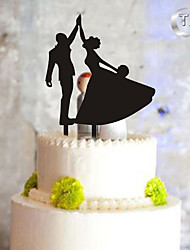cheap -Cake Topper Monogram Plastic Wedding Special Occasion with 1 PVC Bag