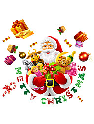 cheap -Wall Stickers Wall Decals Merry Christmas Santa Claus PVC Wall Stickers