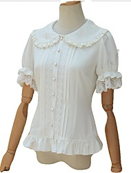 cheap -Casual Lolita Dress Vintage Inspired Women's Girls' Blouse/Shirt Cosplay White Short Sleeves