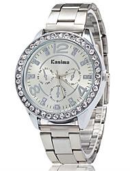 Dame Kjoleur Modeur Armbåndsur Unik Creative Watch Casual Ur Simuleret Diamant Ur Kinesisk Quartz Imiteret Diamant Legering Bånd Charm