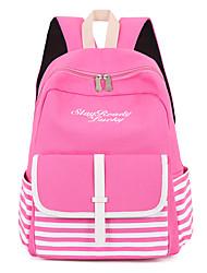 cheap -Women Bags Canvas School Bag Ruffles for Outdoor All Seasons Green Black Blushing Pink Amethyst Deep Blue