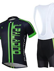 Недорогие -ILPALADINO С короткими рукавами Велокофты и велошорты-комбинезоны - Белый / Черный Английский / Цветочные / ботанический Велоспорт Наборы одежды, Водонепроницаемость, 3D-панель, Быстровысыхающий