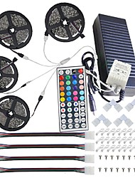 cheap -Waterproof 20M(4*5M) 5050 RGB 600 LEDs Strip Lights with 44Key IR Remote Controller Kit and 12V 10A EU/US/AU/UK Power Supp whit A set Mounting Bracket