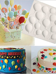 cheap -Birthday BALLOONS Fondant Cake Silicone Molds Cupcake Mould Baking Tools Chocolate  Confeitaria