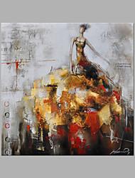 economico -Dipinta a mano Ritratti Quadrato, Di tendenza Tela Hang-Dipinto ad olio Decorazioni per la casa Un Pannello