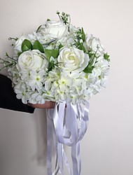 cheap -A Romantic White Rose With A Bouquet/Bridal Bouquet/Wedding Bouquet
