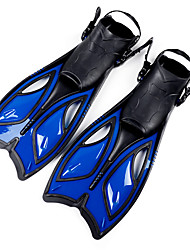 cheap -Swim Fins / Diving Fins Adjustable Strap, Long Blade Snorkeling, Diving, Swimming Silicone, Eco PC, Mixed Material - for Adults Blue /