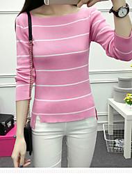 preiswerte -Damen Kunst-Pelz Pullover-Gestreift