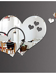 cheap -Mirrors Wall Stickers 3D Wall Stickers Mirror Decorative Wall Stickers, Plastic Vinyl Home Decoration Wall Decal Wall