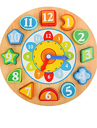 Недорогие -Игры с последовательностью Деревянные часы Математические игрушки Игрушки Часы Образование Для детей Куски