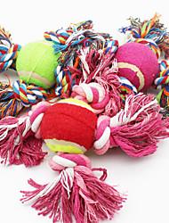 Недорогие -Собака Игрушка для котов Игрушка для собак Игрушки для животных Шарообразные Милый стиль Веревка Хлопок Для домашних животных