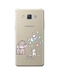 economico -Custodia Per Samsung Galaxy A5(2017) A3(2017) Transparente Fantasia/disegno Custodia posteriore Cartoni animati Elefante Morbido TPU per