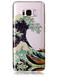 cheap -Case For Samsung Galaxy S8 Plus S8 Phone Case TPU Material IMD Process Waves Pattern HD Flash Powder Phone Case S7 Edge S7 S6 Edge S6