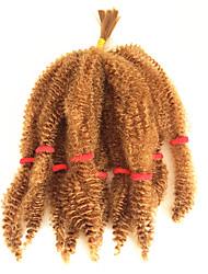 baratos -Cabelo para Trançar Encaracolado / Afro Afro Kinky Tranças / Extensões de Cabelo Natural 100% cabelo kanekalon 10 raízes / pacote Tranças de cabelo Diário