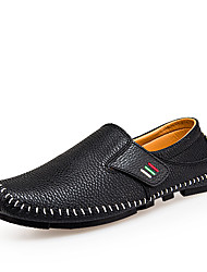 Men's Loafers & Slip-Ons Moccasin Driving Shoes Comfort Spring Fall Real Leather Leather Cowhide PU Casual Office & Career Flat Heel