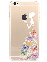 economico -Per iPhone X iPhone 8 Custodie cover Transparente Fantasia/disegno Custodia posteriore Custodia Con logo Apple Sexy Morbido TPU per Apple