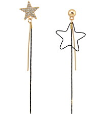 Drop Earrings New  Mismatching Asymmetry Earrings  Fashion Star Long Drop Earring For Women Statement Movie Gift Jewelry