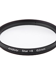 Andoer 62mm Filter Set UV  CPL  Star 8-Point Filter Kit with Case for Canon Nikon Sony DSLR Camera Lens
