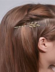 cheap -Europe and the United States foreign trade fashion simple hair accessories Personality joker hair clips Leaf edge hairpin A0307-0308