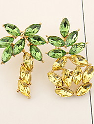 Drop Earrings Women's Euramerican Elegant Fashion Rhinestone Asymmetric pineapple  Earrings Daily Party  Gift Movie Jewelry