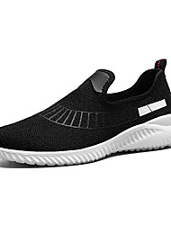 Men's Athletic Shoes Comfort Spring Fall Knit Customized Materials Walking Shoes Athletic Casual Outdoor Split Joint Flat Heel White