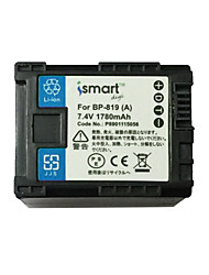 Ismartdigi BP819 7.4V 1780mAh Camera Battery for Canon FS10 100 11 200 21 22 HF M400 M31 M32 S30