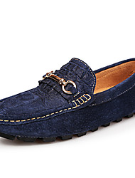 cheap -Unisex Loafers & Slip-Ons Moccasin Summer Fall Suede Casual Party & Evening Black Dark Blue Gray Flat