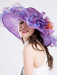 cheap -Feather Silk Organza Fascinators Hats 1 Wedding Special Occasion Party / Evening Casual Headpiece