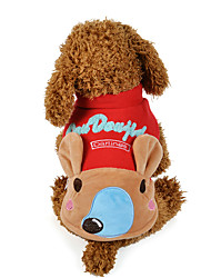 Cachorro Moletom Roupas para Cães Casual Desenho Animado Amarelo Vermelho Ocasiões Especiais Para animais de estimação