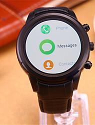 Муж. Жен. Смарт-часы Цифровой Кожа Группа Черный
