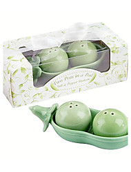cheap -Practical Favor Two Peas In A Pod Salt & Pepper Shakers Wedding Favors 12 x 5.8 x 4 cm/box