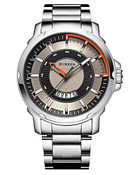 cheap -Men's Dress Watch Fashion Watch Sport Watch Japanese Quartz Casual Watch Stainless Steel Band Casual Black Silver