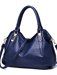 Women Bags All Seasons PU Tote for Event/Party Casual Outdoor White Black Wine Brown Deep Blue