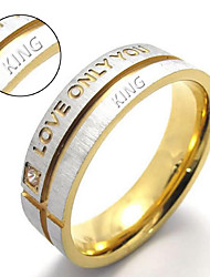 cheap -Love only you hot titanium Couples ring blue titanium letter ring