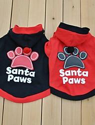 preiswerte -Hund Kostüme T-shirt Hundekleidung Cosplay Buchstabe & Nummer Schwarz Rot Kostüm Für Haustiere