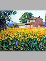 cheap -IARTS®  Hand Painted Oil Painting Vintage Cottage Garden Abstract Art Acrylic Canvas Wall Art For Home Decoration