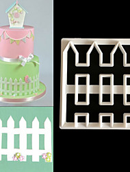 cheap -1PC Fence Picket Cutter Plastic Cake Decorating Mold Sugarcraft Mold Cookie Cutter