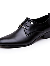 cheap -Men's Shoes PU(Polyurethane) Spring / Fall Comfort Oxfords Black / Brown / Formal Shoes