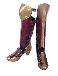baratos -Sapatos de Cosplay Botas de Fantasia Fantasias Fantasias Anime Sapatos de Cosplay Couro Couro PU/Couro de Poliuretano Couro PU Unisexo