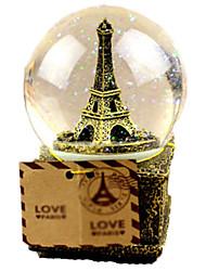 cheap -Balls Music Box Crystal Round Women's Gift
