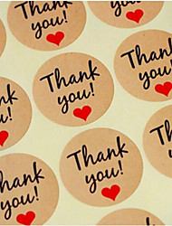 60 Piece / set Kraft Paper label sticker Thank You Gift Tags Wedding Favors Party Accessories Christmas DIY Burlap Wedding Decoration