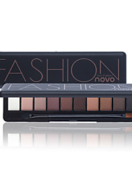 cheap -1Pc Shimmer Matte Natural Fashion Eye Shadow Make Up Light Eyeshadow Cosmetics Set With Brush 10 Colors Novo Eye Makeup Palette
