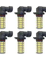 abordables -6pcs H8 / 9006 / 9005 Automatique Ampoules électriques 4W SMD 3528 385lm Ampoules LED Feu Antibrouillard