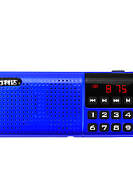 T18 Radio portatil Reproductor MP3 Tarjeta TFWorld ReceiverRojo Azul
