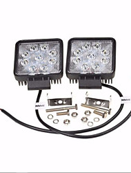 cheap -2 X 27W  4 Inch FLOOD Lamp Led Truck Off-road SUV UTE Work Light