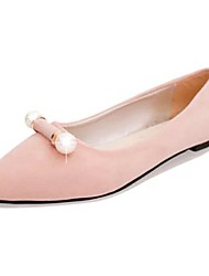 cheap -Women's Flats Light Soles PU Spring Casual Flat Heel Blushing Pink Blue Gray Black Flat