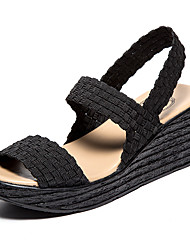 Women's Sandals Comfort Crib Shoes Light Soles Summer Fall Spandex Polyester Casual Office & Career Braided Strap Split Joint Gore Wedge