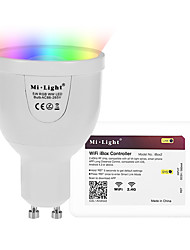 5W GU10 LED Smart Bulbs A60(A19) 12 leds SMD 5730 Infrared Sensor Dimmable Remote-Controlled WIFI APP Control Light Control RGB+White 500