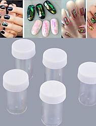 5 x Foil Nail Art Transer Stickers Decal Wrap Glitter Decoration Manicure DIY High Quality