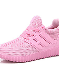 cheap -Women's Athletic Shoes Light Soles Spring Fall Breathable Mesh Walking Shoes Casual Outdoor Lace-up Flat Heel Black Ruby Blushing Pink